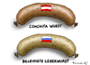 Cartoon: Beleidigte Leberwurst (small) by marian kamensky tagged eurovision,song,contest,in,denmark,russia,putin,ukraine