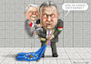 Cartoon: BRAUNE ALLIANZ KACZYNSKI- ORBAN (small) by marian kamensky tagged orban,will,zaungeld,juncker,ungarn,nationalismus,kaczynski,populismus