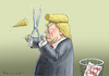 Cartoon: DEPRIMIERTER TRUMP (small) by marian kamensky tagged obama,trump,präsidentenwahlen,usa,baba,vanga,republikaner,inauguration,trumpcare,demokraten,wikileaks,faschismus