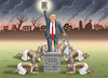 Cartoon: DER MESSIAS TRUMP (small) by marian kamensky tagged coronavirus,epidemie,gesundheit,panik,stillegung,george,floyd,twittertrump,pandemie