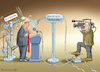Cartoon: DAS NÄCHSTE TV-DUELL (small) by marian kamensky tagged us,wahlen,joe,biden,trump,corona,bob,woodward,harris,pence