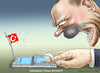 Cartoon: ERDOGANS iPhone BOYKOTT (small) by marian kamensky tagged trump,versus,erdogan,lira,türkei,sanktionen,erdogans,iphone,boykott