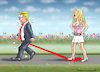Cartoon: FRÜHLING MIT PORNO STORMY (small) by marian kamensky tagged trump,porn,scandal,sex,stephanie,clifford,stormy,daniels,corruption