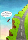 Cartoon: GPS... (small) by marian kamensky tagged black,humor,jps,navigation,satelite,on,the,road