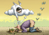 Cartoon: Grimmiger Grimme-Preis (small) by marian kamensky tagged grimme,preis,dschungelcamp,rtl,showbis,fernsehen,dirk,bach