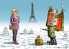 Cartoon: HAPPY NEW YEAR 2015 (small) by marian kamensky tagged happy,new,year,2015,marine,le,pen,putin,front,national,faschismus,nationalismus