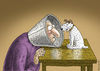 Cartoon: His Masters Voice (small) by marian kamensky tagged his,masters,voice,grippewelle