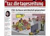 Cartoon: HURRAAAA  TITELSEITE DER TAZ (small) by marian kamensky tagged hurraaaa,titelseite,der,taz