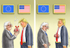 Cartoon: JUNCKER IN WASHINGTON (small) by marian kamensky tagged obama,trump,präsidentenwahlen,usa,baba,vanga,republikaner,inauguration,demokraten,wikileaks,faschismus,trumps,handelskrieg,harley,davidson,strafzölle,juncker,in,washington