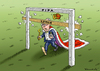 Cartoon: Kaiser Franz (small) by marian kamensky tagged franz,beckenbauer,fifa,korruption