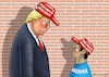Cartoon: MAKE AMERICA HUMAN AGAIN (small) by marian kamensky tagged obama,trump,präsidentenwahlen,usa,baba,vanga,republikaner,inauguration,daca,demokraten,wikileaks,faschismus