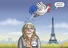 Cartoon: MARINE LE PENNERIN (small) by marian kamensky tagged hollande,trifft,obama,terroranschlag,in,paris,marine,le,pen,wahlen,frankreich