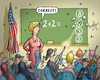 Cartoon: Mathe in Amerika (small) by marian kamensky tagged waffen,in,amerika,gewalt,waffengesetze,usa