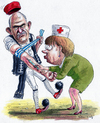 Cartoon: Merkel - Papandreu (small) by marian kamensky tagged humor