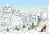 Cartoon: MOUNT RUSHMORE MEMORIAL (small) by marian kamensky tagged obama,trump,präsidentenwahlen,usa,baba,vanga,republikaner,inauguration,demokraten,wikileaks,faschismus,jamal,khashoggi
