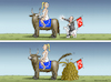 Cartoon: MRS. EUROPA AND ERDOGAN (small) by marian kamensky tagged cumhuriyet,erdogan,cavusoglu,pressefreiheit,türkei,denit,yücel