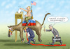 Cartoon: NO COLLUSION (small) by marian kamensky tagged obama,trump,präsidentenwahlen,usa,baba,vanga,republikaner,inauguration,demokraten,wikileaks,faschismus,jamal,khashoggi,very,black,hole