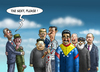 Cartoon: OBAMAS NEUE FREUNDE (small) by marian kamensky tagged obama,castro,cuba,embargo,putin,diktatoren