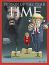Cartoon: TIME (small) by marian kamensky tagged präsident,donald,trump,repiblikaner,präsidentenwahl,in,amerika