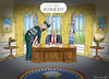 Cartoon: TRUMP HAS BEEN FIRED (small) by marian kamensky tagged obama,trump,präsidentenwahlen,usa,baba,vanga,republikaner,inauguration,john,kelly,demokraten,wikileaks,faschismus