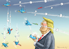 Cartoon: TRUMPTWEET (small) by marian kamensky tagged obama,trump,präsidentenwahlen,usa,baba,vanga,republikaner,inauguration,demokraten,wikileaks,faschismus