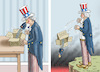 Cartoon: UNCLE SAM (small) by marian kamensky tagged us,wahlen,joe,biden,trump,corona,bob,woodward,harris,pence