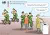Cartoon: UNSCHULDSLÄMMCHEN URSULA (small) by marian kamensky tagged ursula,von,der,leyen,berateraffäre,bundeswehr,vetternwirtschaft,korruption
