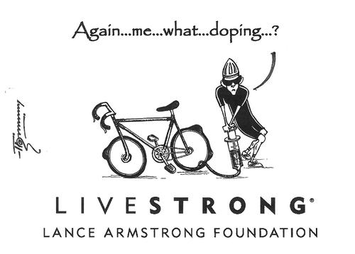 Cartoon: Lance Armstrong (medium) by Thommy tagged lance,armstrong