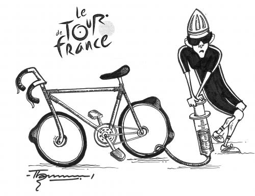 Cartoon: Tour de France (medium) by Thommy tagged tour,de,france,dopping,cycling