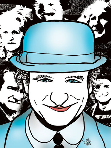 Cartoon: Robin Williams (medium) by Krzyskow tagged karykatura