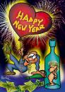 Cartoon: New Year (small) by Krzyskow tagged character comic designfrau girl illustration line love man mann music politics sex sport tiere