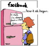 Cartoon: The began of Facebook (small) by Tiemo tagged zuckerbook