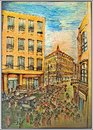 Cartoon: Down town (small) by florian 31 tagged illustration,drawing