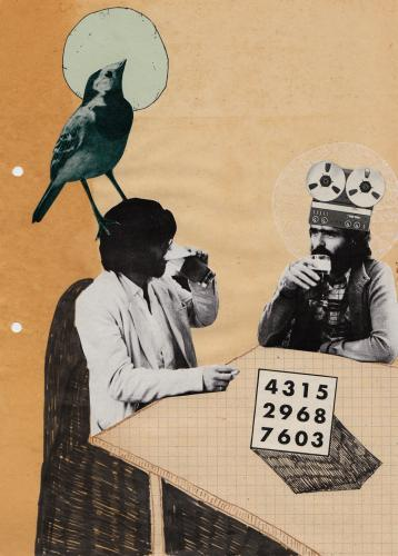 Cartoon: _ (medium) by the_pearpicker tagged king,bird,people,collage,drinking