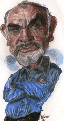 Cartoon: Sean Connery (medium) by RoyCaricaturas tagged connery,sean,hollywood,films,actors,famous