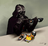 Cartoon: Darth Duracell (small) by Mikl tagged mikl,michael,olivier,miklart,illustration,art,darth,vader,duracell,battery