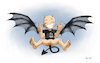 Cartoon: Hell Angel (small) by Mikl tagged mikl,michael,olivier,miklart,art,illustration,drawing,demon,devil,angel,hell