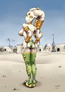 Cartoon: Miss Mos Eisley... in Mos Eisley (small) by Mikl tagged mikl,michael,olivier,miklart,art,illustration,painting,miss,mos,eisley,pinup,sexy,alien