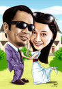 Cartoon: caricature wedding (small) by juwecurfew tagged caricature,wedding