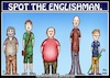 Cartoon: Spot the Englishman (small) by Mike J Baird tagged englishman,search,men,find,observe