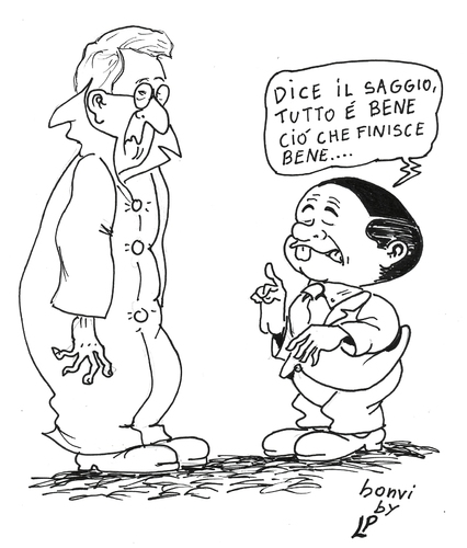 Cartoon: 10 (medium) by paolo lombardi tagged italy,politics,satire,cartoon,election,berlusconi,grillo