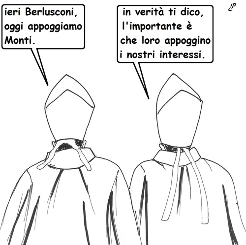 Cartoon: Appoggi e Interessi (medium) by paolo lombardi tagged italy,politics,satire,cartoon