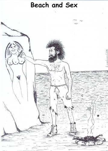 Cartoon: beach and sex (medium) by paolo lombardi tagged beach,summer,caricature,satire
