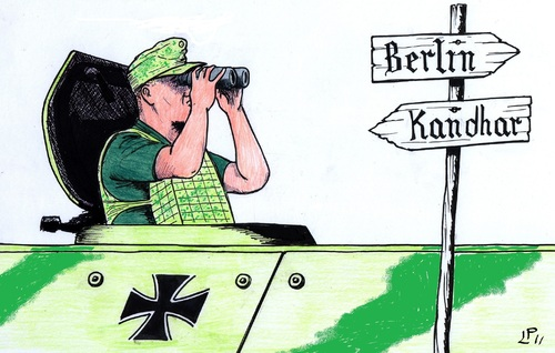 Cartoon: Bundeswehr (medium) by paolo lombardi tagged afghanistan,germany,krieg,war,peace
