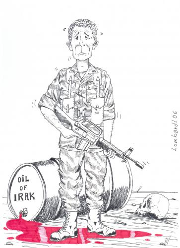 Cartoon: bush (medium) by paolo lombardi tagged usa,bush,politics,satire,caricatures,iraq