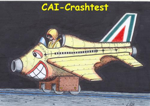 Cartoon: cai-crashtest (medium) by paolo lombardi tagged italy,satire,comic,politic,deutschland,caricatures