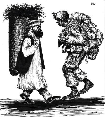 Cartoon: Carriers (medium) by paolo lombardi tagged war,peace,afghanistan,usa