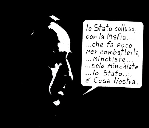 Cartoon: Cosa Nostra (medium) by paolo lombardi tagged italy,berlusconi,mafia,politics,satire,caricature