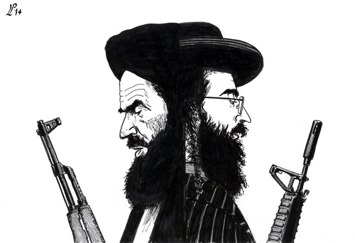 Cartoon: Fundamentalism Killer (medium) by paolo lombardi tagged israel,palestine,iraq,war,peace