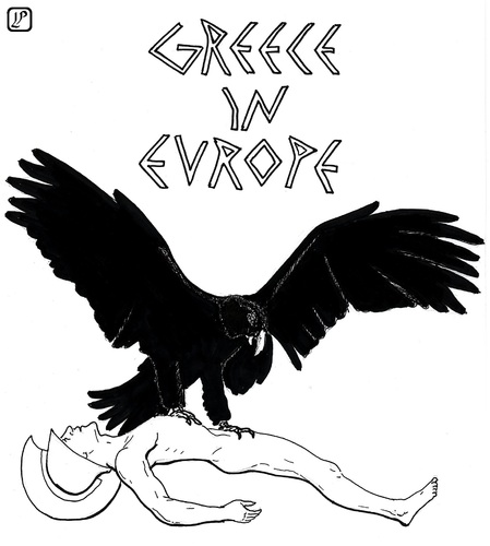 Cartoon: Greece in Europe (medium) by paolo lombardi tagged greece,europe,economy